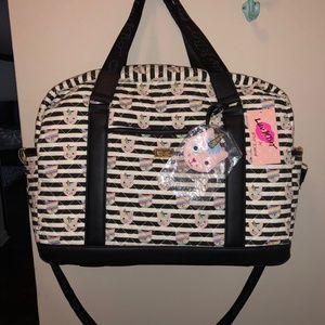 Betsey Johnson Rainbow Cat Large Weekender Bag